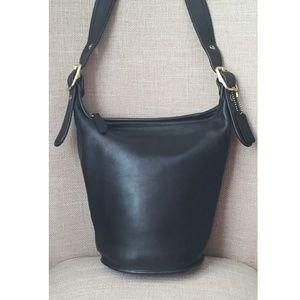 COACH Vintage  Black Leather Bucket Crossbody 9953